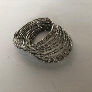 Stella and Dot Silver Bardot Wrap Bracelet